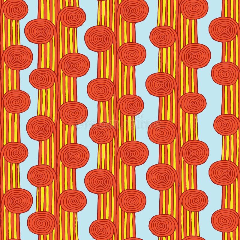 Spiraalvormig stam naadloos patroon stock illustratie