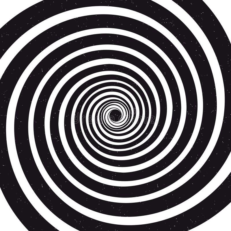 Spiraalvormige achtergrond Optische illusie Vector illustratie stock illustratie