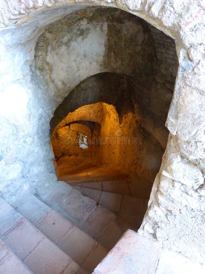 Spiraalvormige afdaling in de Watermijn royalty-vrije stock afbeeldingen