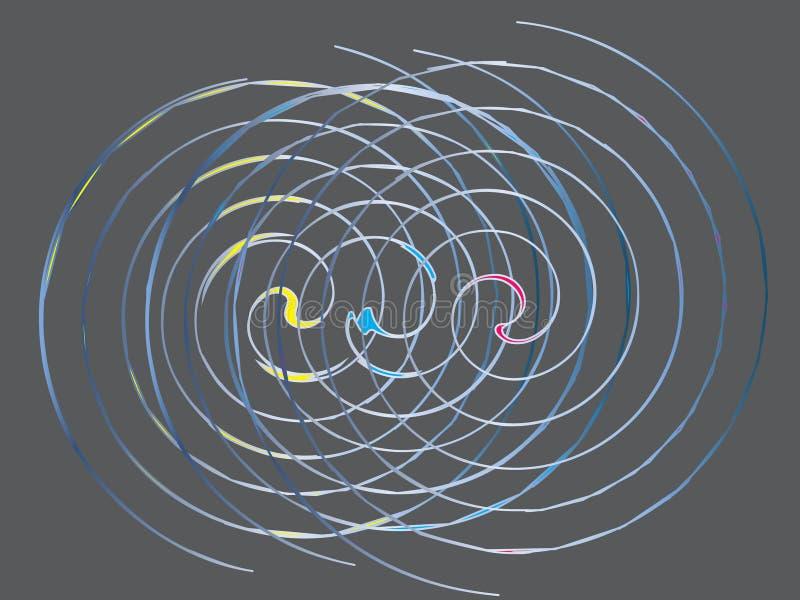 Spiraalvormige Artistieke Abstractie vector illustratie