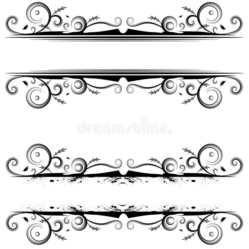 Spiraalvormige Bannergrens vector illustratie