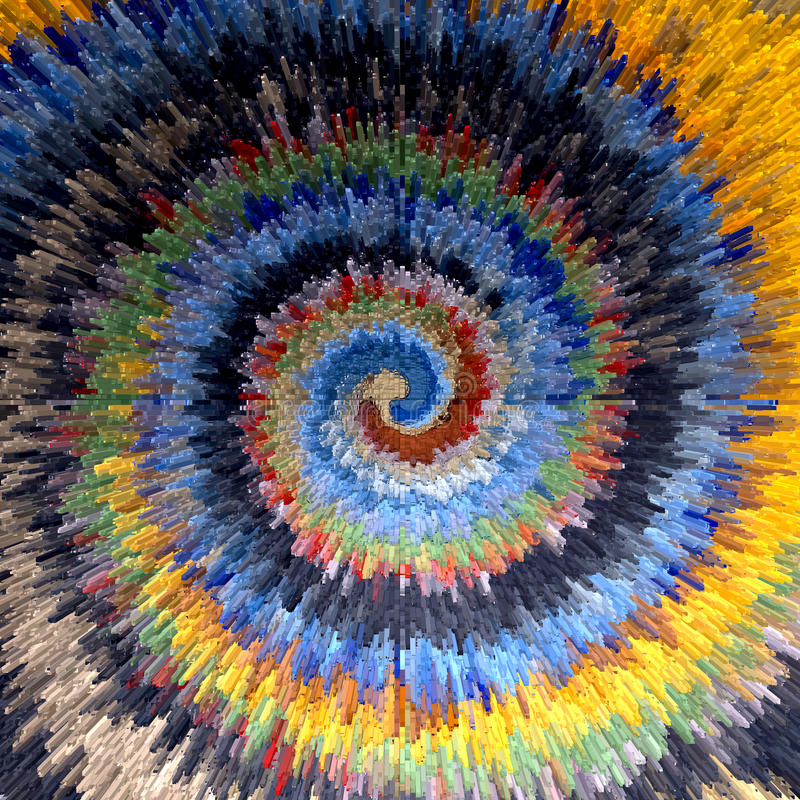 Spiraalvormige beweging Veelkleurige geweven achtergrond royalty-vrije illustratie