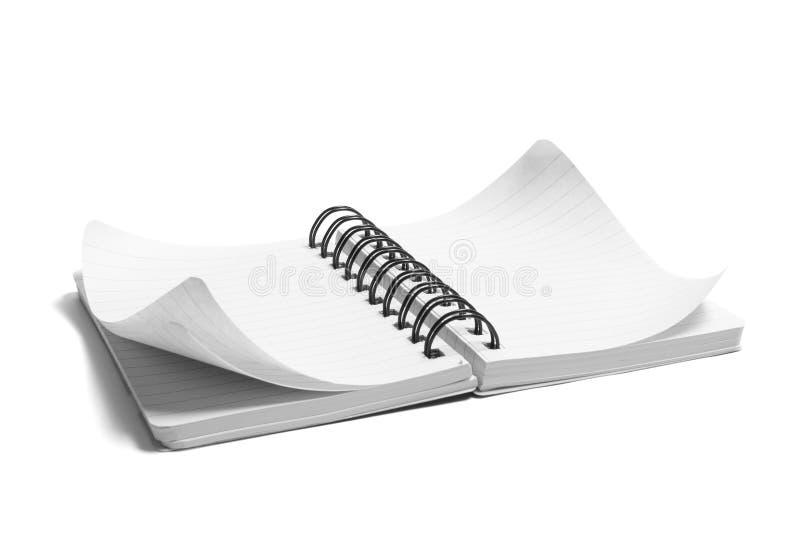 Spiraalvormige Blocnote royalty-vrije stock afbeelding