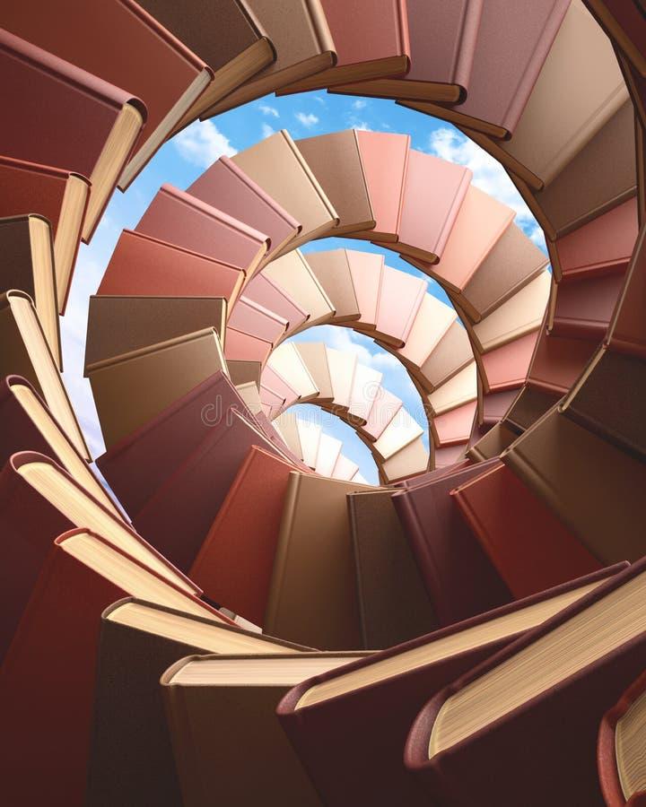 Spiraalvormige boeken stock afbeeldingen