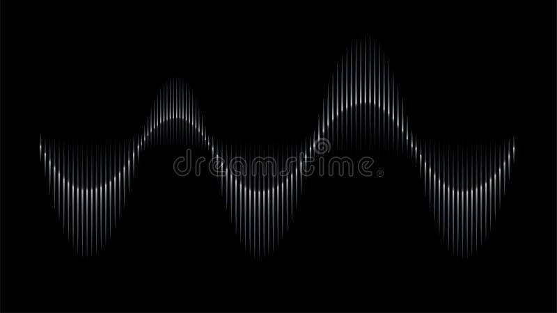 Spiraalvormige Correcte Golf vector illustratie