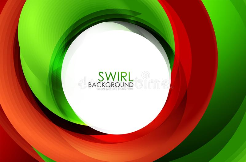 Spiraalvormige 3d het effect van wervelings stromende lijnen abstracte achtergrond stock illustratie