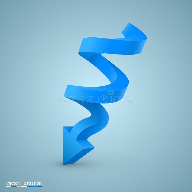 Spiraalvormige de kunstinformatie van het pijlteken stock illustratie