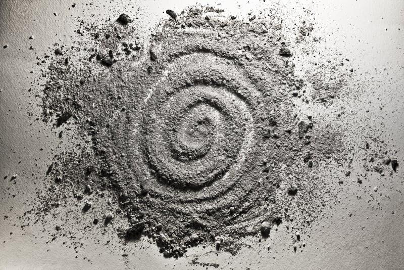 Spiraalvormige die vorm van as wordt gemaakt vector illustratie