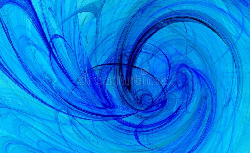 Spiraalvormige draai blauwe achtergrond royalty-vrije illustratie