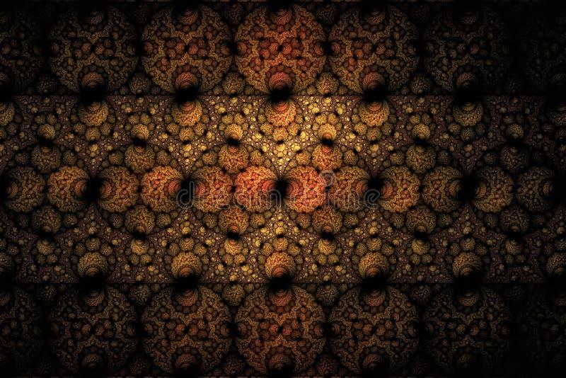 Spiraalvormige fractal 10 stock illustratie