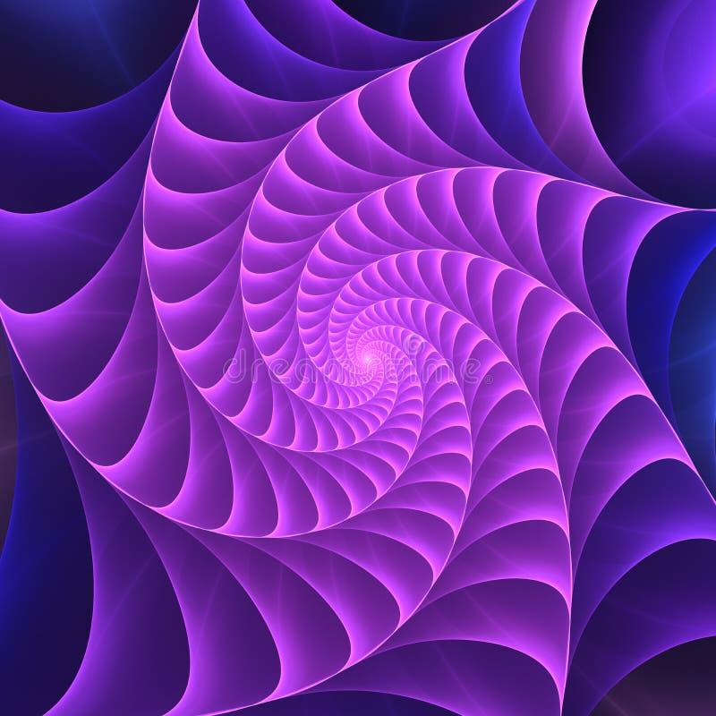 Spiraalvormige fractal visuele motieeffect digitale kunstachtergrond vector illustratie
