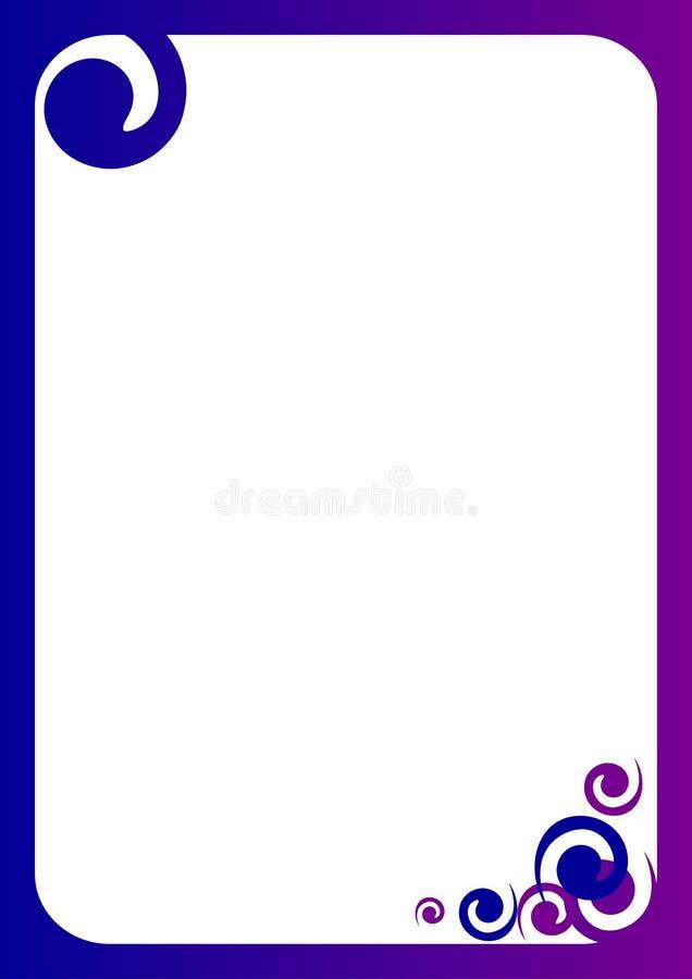 Spiraalvormige Grens royalty-vrije illustratie