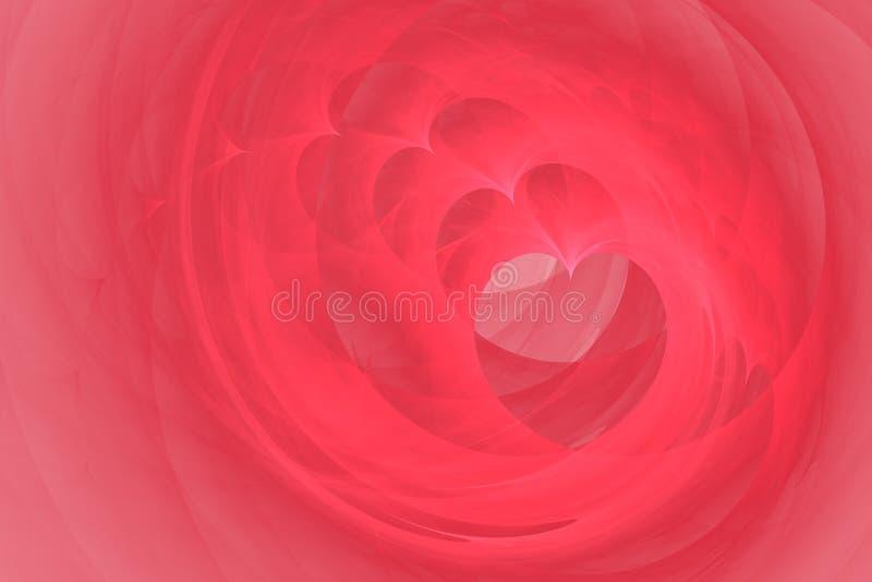 Spiraalvormige harten stock afbeeldingen