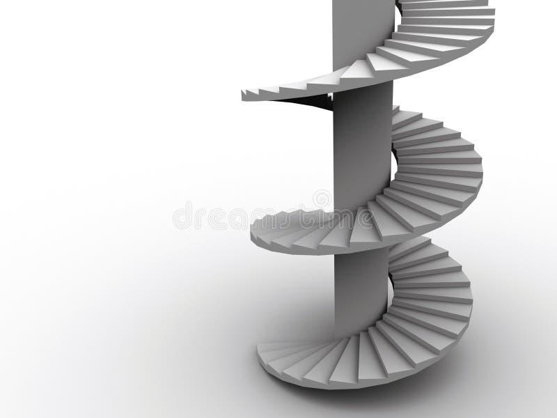 Spiraalvormige ladder royalty-vrije illustratie