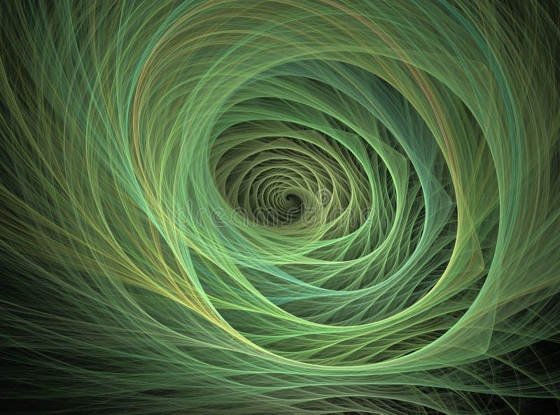 Spiraalvormige lijn stock illustratie