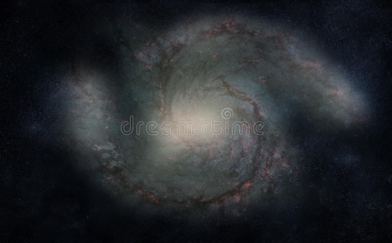 Spiraalvormige Melkweg vector illustratie
