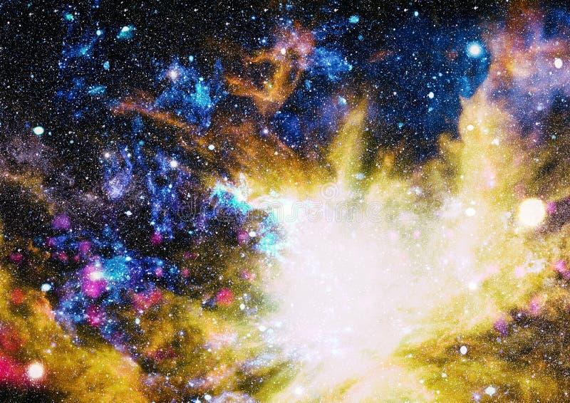 Spiraalvormige melkweg in diepe ruimte Elementen van dit die beeld door NASA wordt geleverd stock illustratie