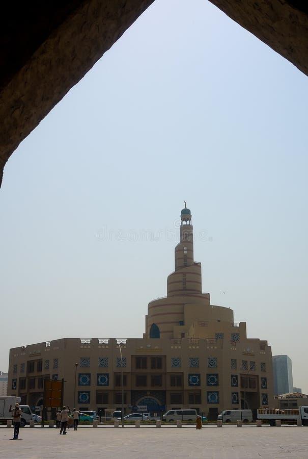 Spiraalvormige Moskee Al Fanar in Doha, Qatar royalty-vrije stock afbeelding