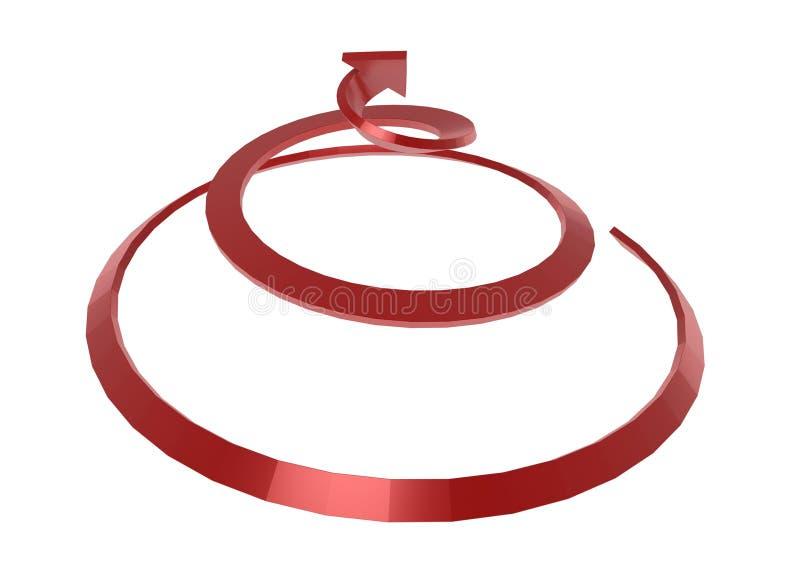 Spiraalvormige Pijl stock illustratie