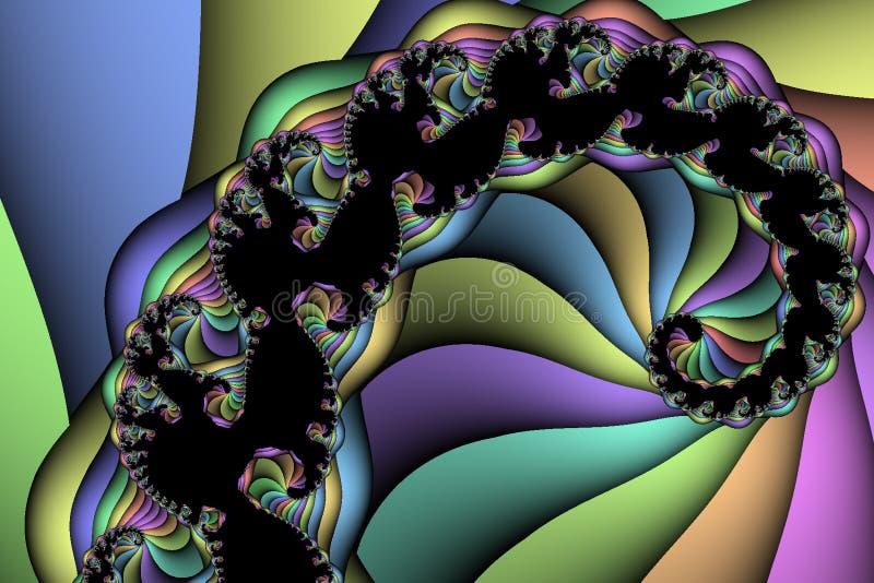 Spiraalvormige Regenboog royalty-vrije illustratie