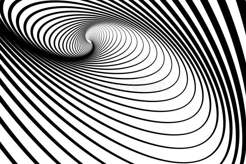 Spiraalvormige roesbeweging. Abstracte achtergrond. royalty-vrije illustratie