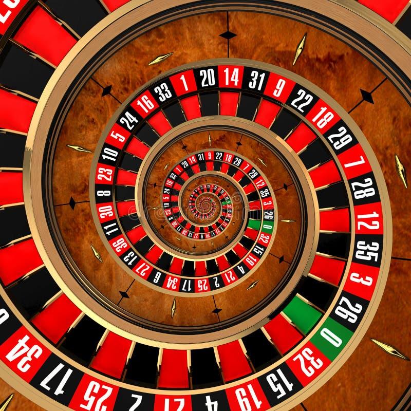 Spiraalvormige Roulette royalty-vrije illustratie