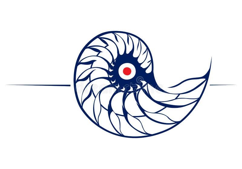 Spiraalvormige schroefshell vector illustratie