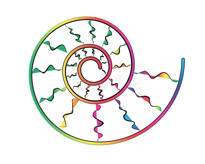 Spiraalvormige slakMelkweg vector illustratie