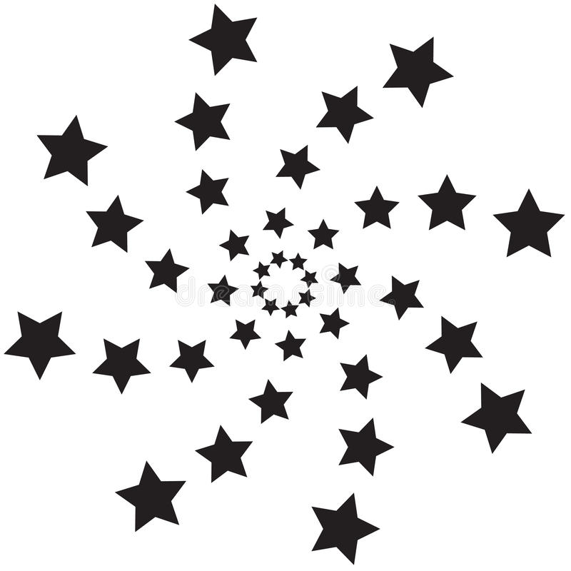 Spiraalvormige sterren royalty-vrije illustratie