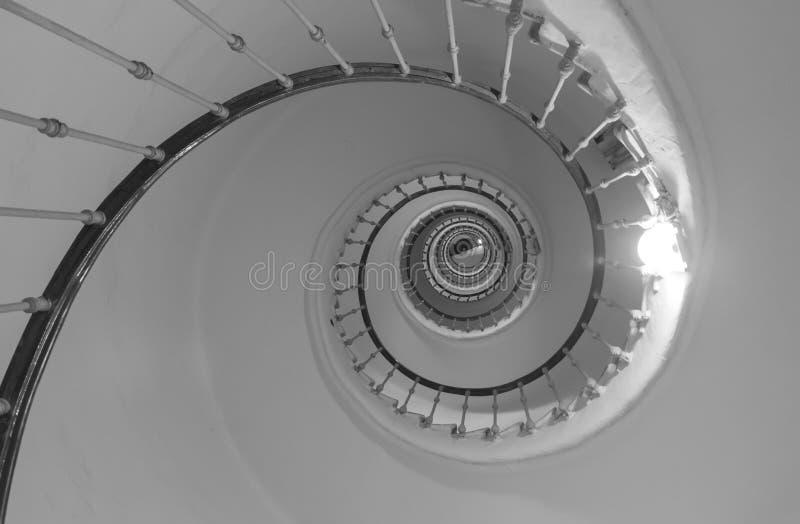 Spiraalvormige trap Samenvatting stock afbeelding