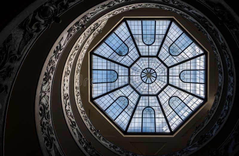 Spiraalvormige trap van de Musea van Vatikaan royalty-vrije stock foto