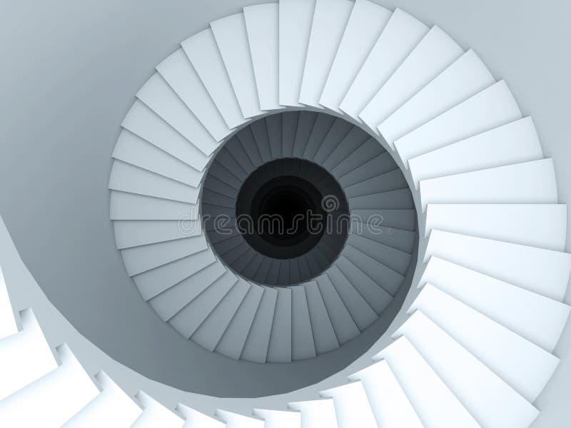 Spiraalvormige trede vector illustratie