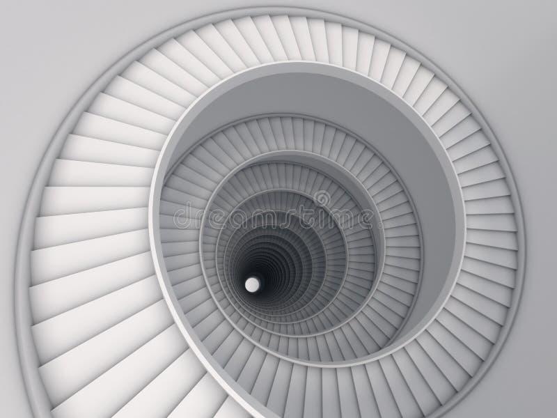 Spiraalvormige trede stock illustratie