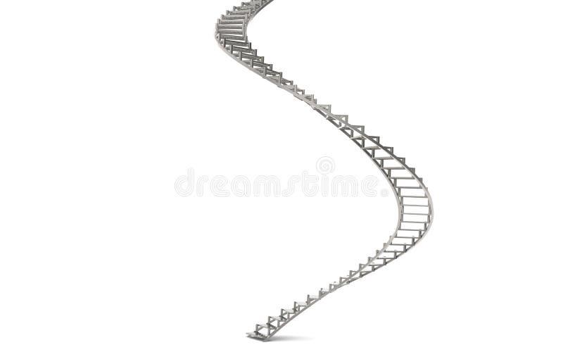 Spiraalvormige Treden stock illustratie