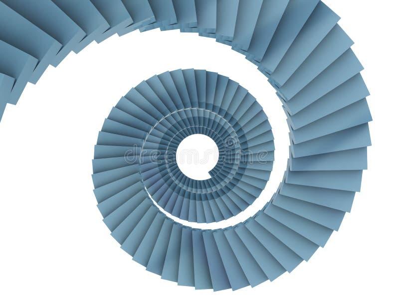 Spiraalvormige treden vector illustratie