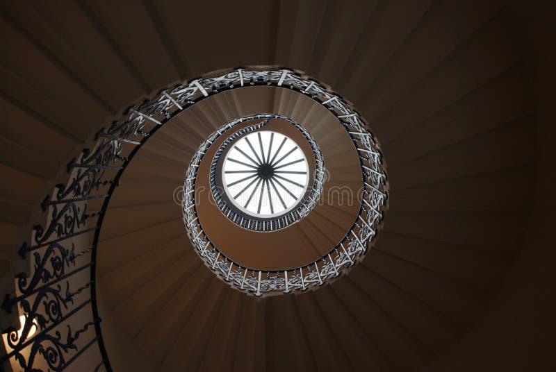 Spiraalvormige treden stock fotografie