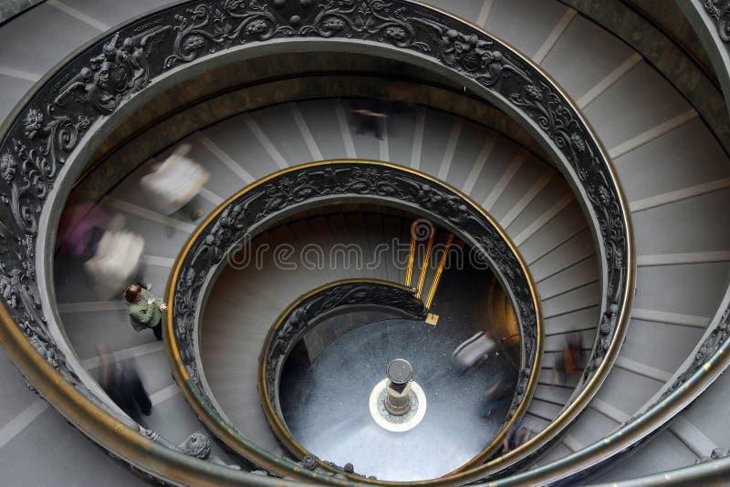 Spiraalvormige treden in Vatikaan stock foto's