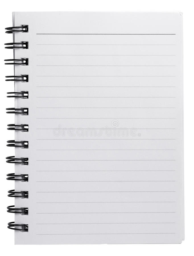 Download Spiral agenda blank paper stock image. Image of clean - 39466087