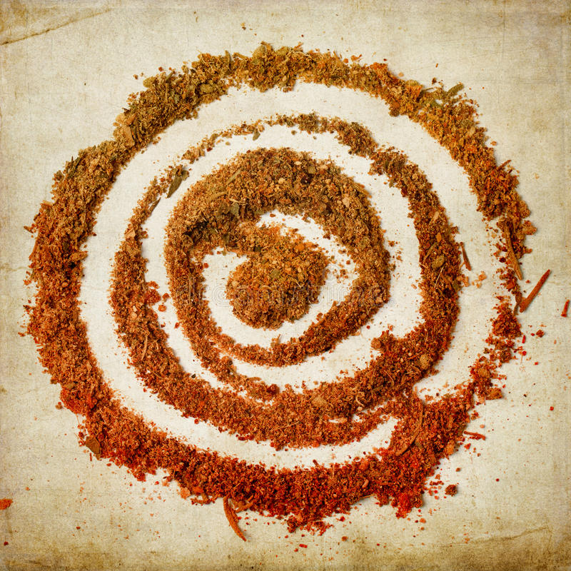 Spiral av kryddor royaltyfri foto