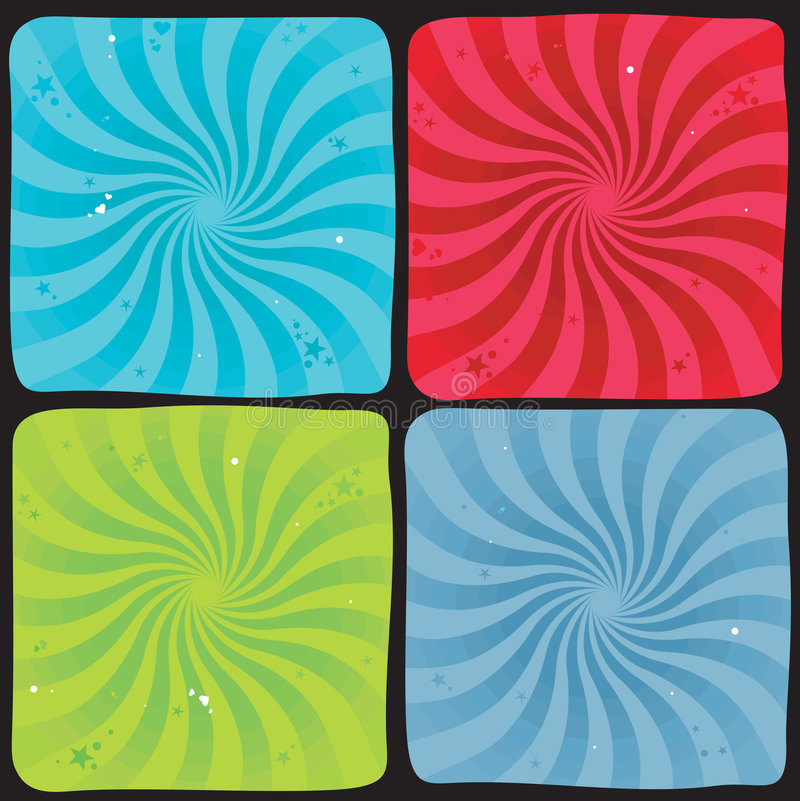 Spiral background set royalty free illustration