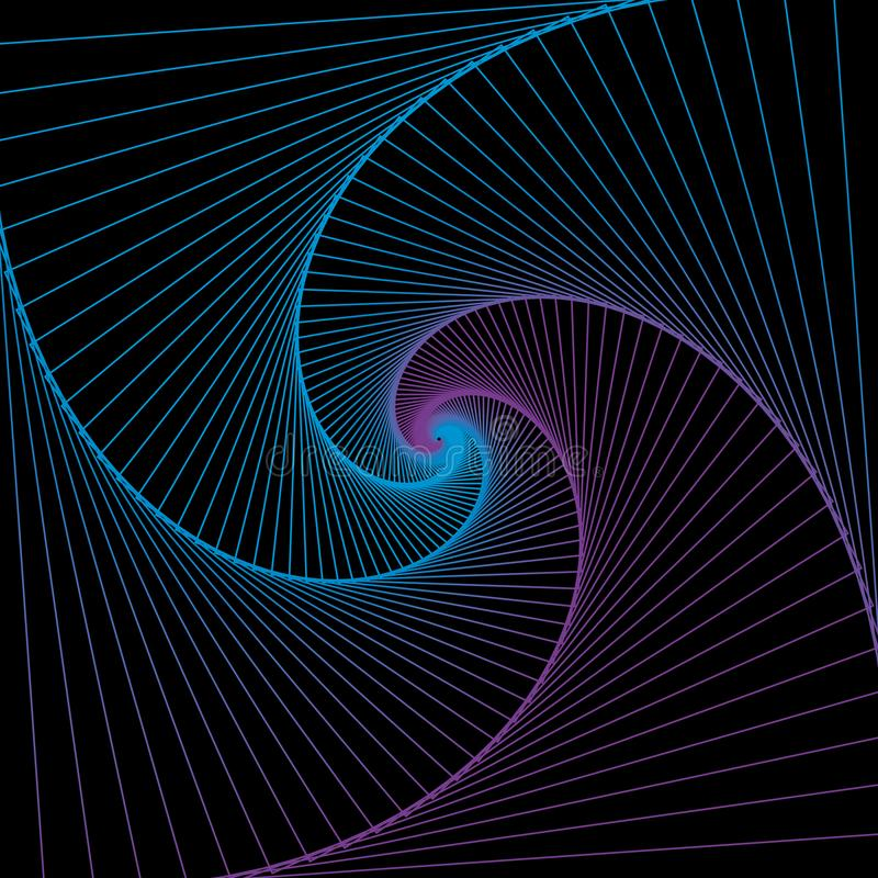 Spiral background. Space concept. Abstract vector illustration.  stock image