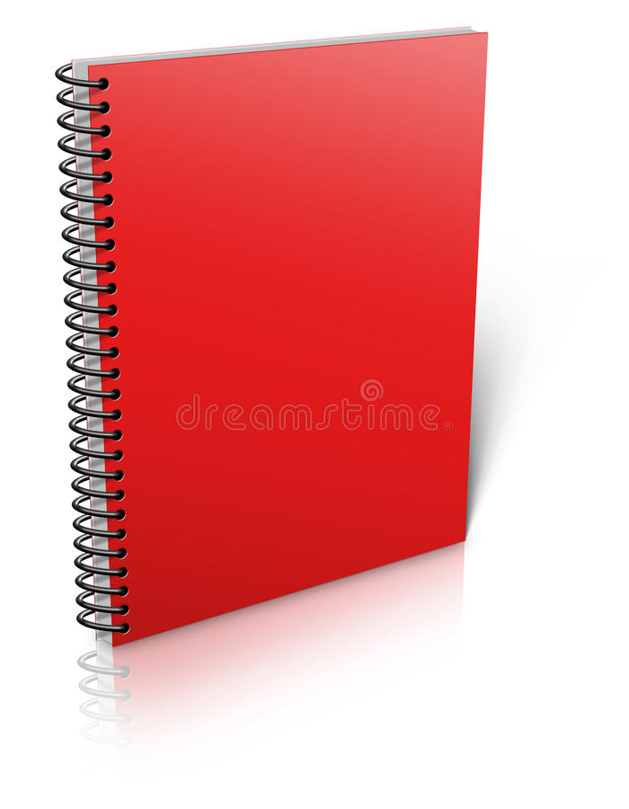 Spiral binder. Note pad with white stock illustration
