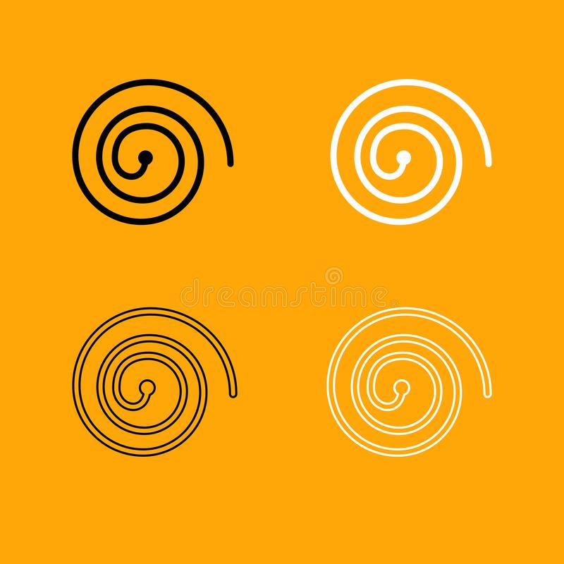 Spiral black and white set icon. Spiral it is black and white set icon stock illustration