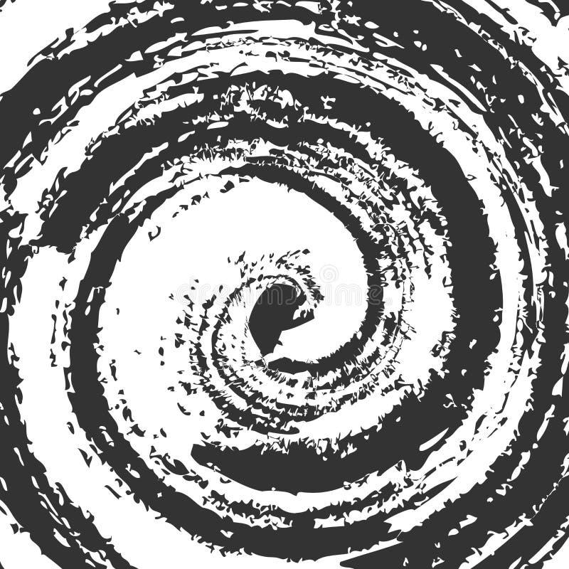 Spiral blots vector Illustration. Abstract swirl tornado form. S. Wirl background royalty free illustration