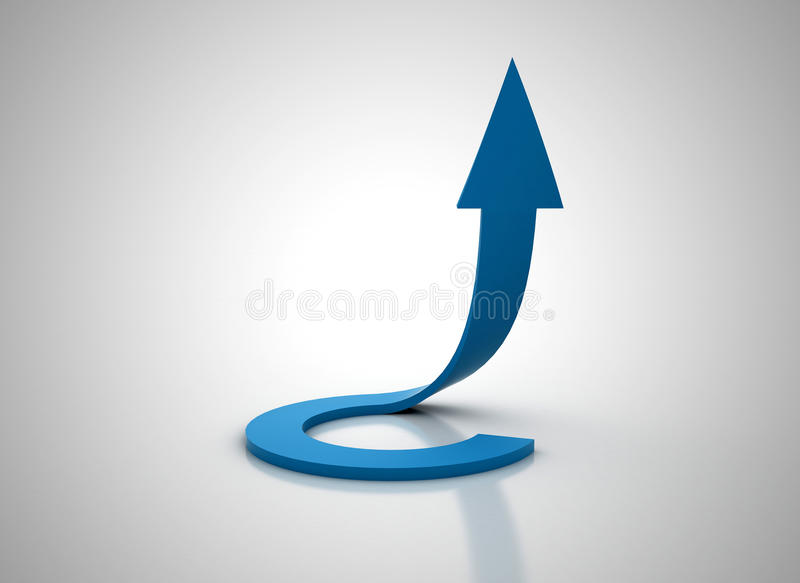 Download Spiral Blue Arrow Going Up 3d Illudtration Stock Illustration - Image: 16861510
