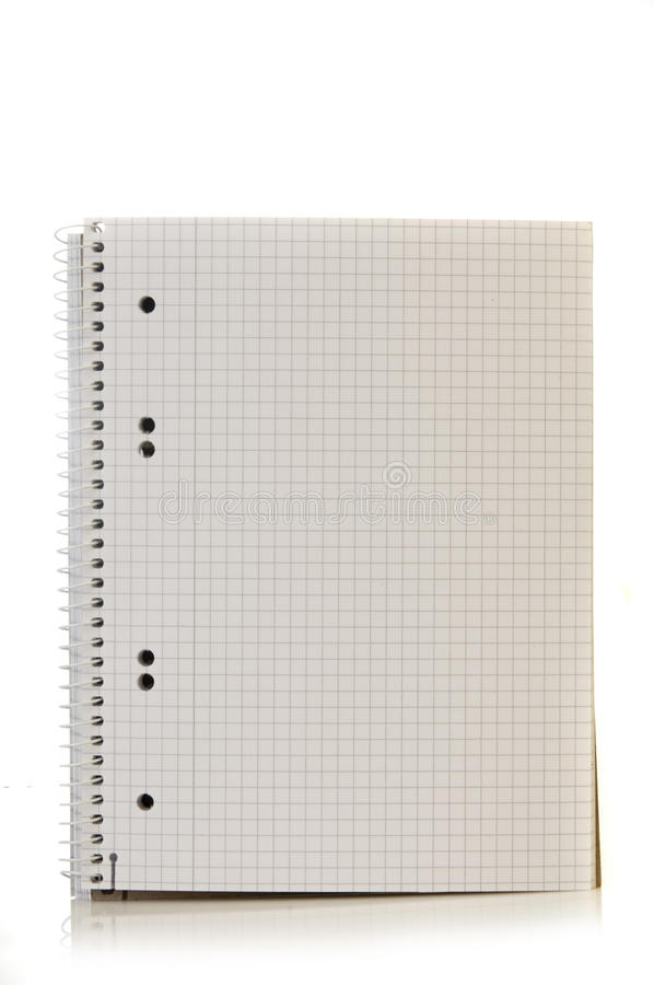 Download Spiral bound note pad stock photo. Image of notepad, line - 25929096
