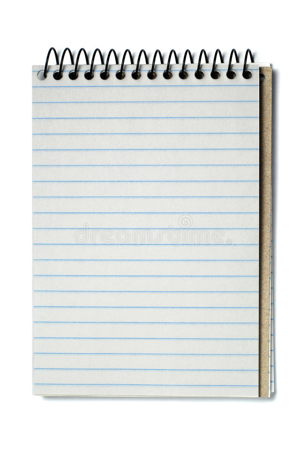Download Spiral bound note pad stock image. Image of notepaper - 7901241