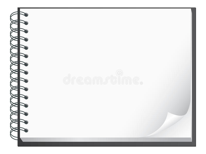 Spiral bound note pad illustration royalty free illustration