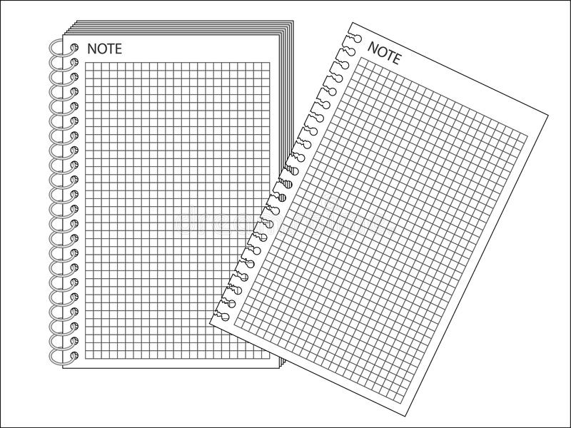 Download Spiral bound notepad stock vector. Image of concept, note - 16759159