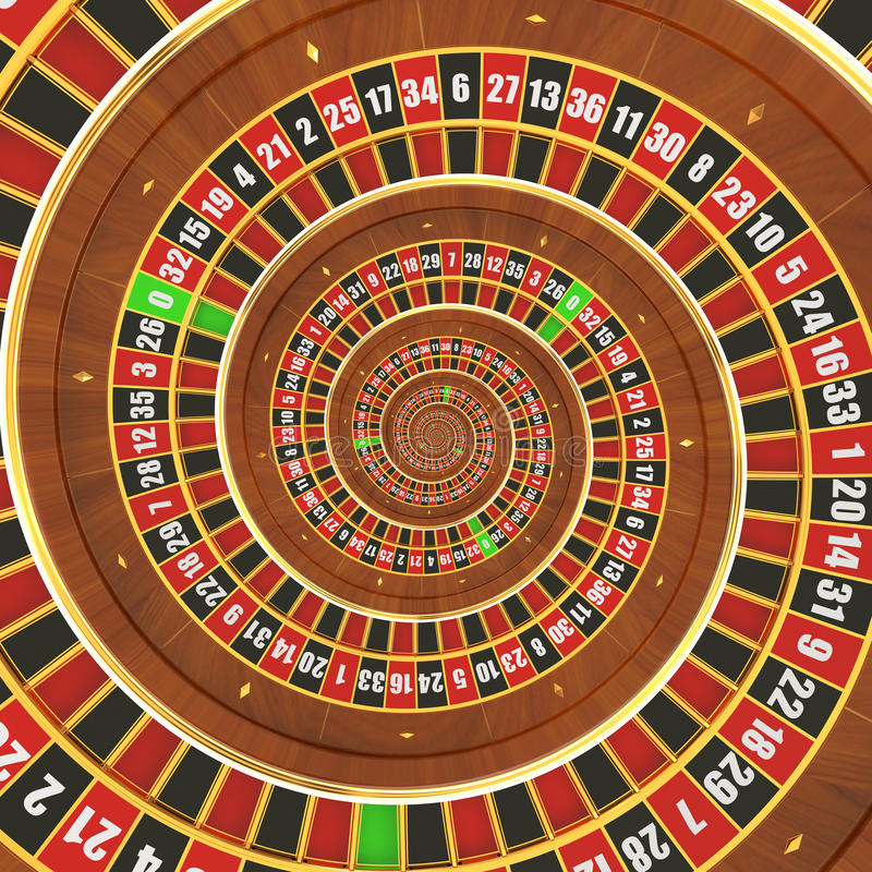 Spiral Casino Roulette vector illustration